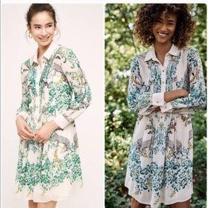 Maeve (Anthro) Sheer Ria Leopard Dress